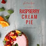 Gluten Free No Bake Raspberry Cream Pie Recipe #remodelaholic