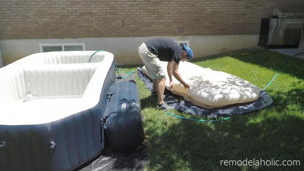 Setting Up Cover For Inflatable Pool Setup #remodelaholic