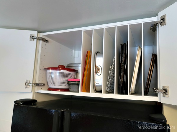 Remodelaholic Ikea Hack Diy Over The Fridge Cabinet Organizer