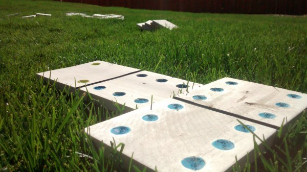 DIY Pallet Wood Yard Dominoes With Printable Scorecard And Game Instructions