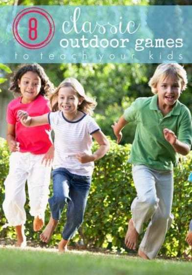 Kids Running And Laughing, 8 Classic Outdoor Games For Kids