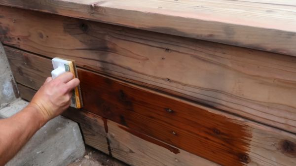 Restore Refinish Redwood Deck With Oil 007