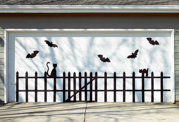 Bat And Cat Garage Door BHG