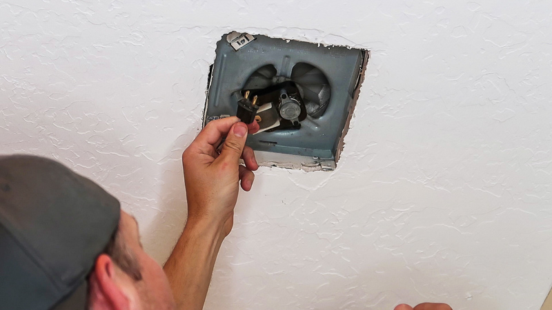 existing bathroom exhaust fan cover