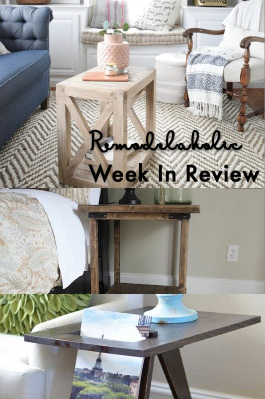 A DIY Planked X Farmhouse Side Table For Christmas + Rustic Square Bedside Table