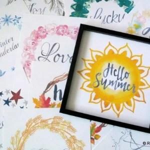 Printable Seasonal Art Set For Easy Holiday Decorating Remodelaholic