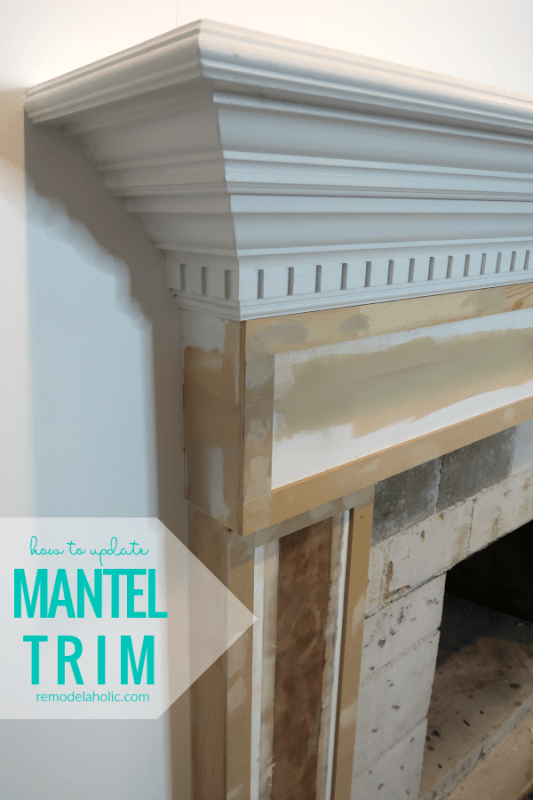 How To Update Mantel Trim For A Modern Fireplace Update #remodelaholic