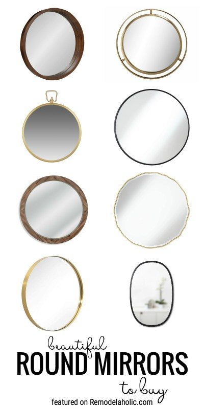 Beautiful Round Mirrors To Buy And How To Decorate With Them Featured By Remodelaholic.com