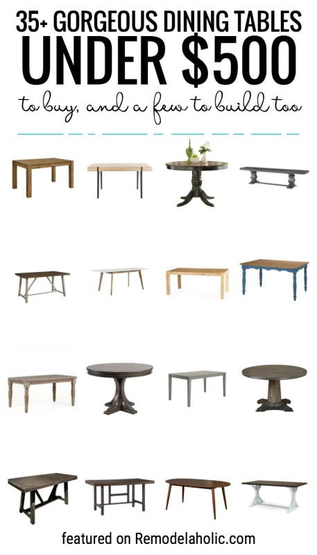 Looking For A New Place To Gather Your Family In The Kitchen Grab One Of These Gorgeous Dining Tables For Under $500 To Buy, And A Few To Build Too Featured On Remodelaholic.com