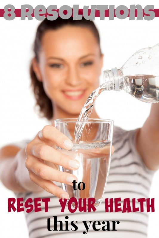 Reset Your Health Image Of Girl Pouring Water