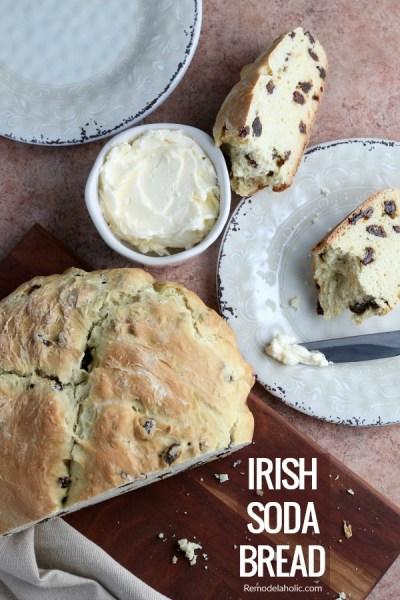 Traditional Irish Soda Bread Recipe #remodelaholic