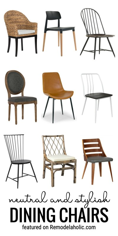 Add A Neutral But Stylish Look To Your Living Room With New Neutral And Stylish Dining Chairs To Buy Featured On Remodelaholic.com