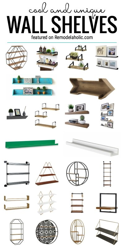Add Some Texture And Visual Interest To Your Walls With These Cool And Unique Wall Shelves To Buy Featured On Remodelaholic.com