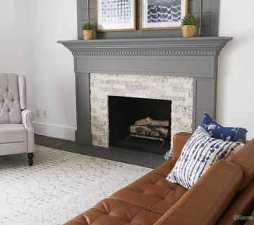 DIY Fireplacce Makeover Fireplace Mantel Airstone 6