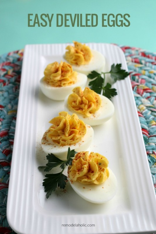 How To Make Deviled Eggs, 3 Ingredient Easy Deviled Egg Recipe Remodelaholic