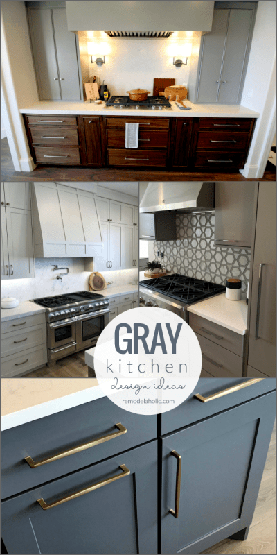 Inspiration And Ideas For Designing Gray Kitchen Cabinets Backsplash Tile Countertops #remodelaholic