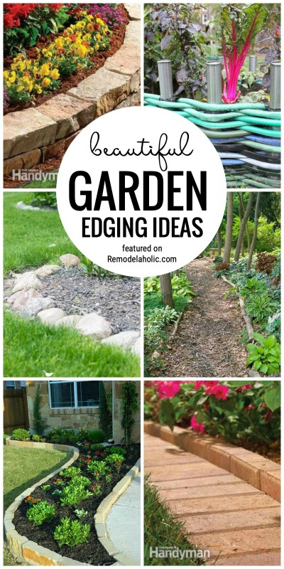 Dress Up Your Garden With These Beautiful Garden Edging Ideas Featured On Remodelaholic.com