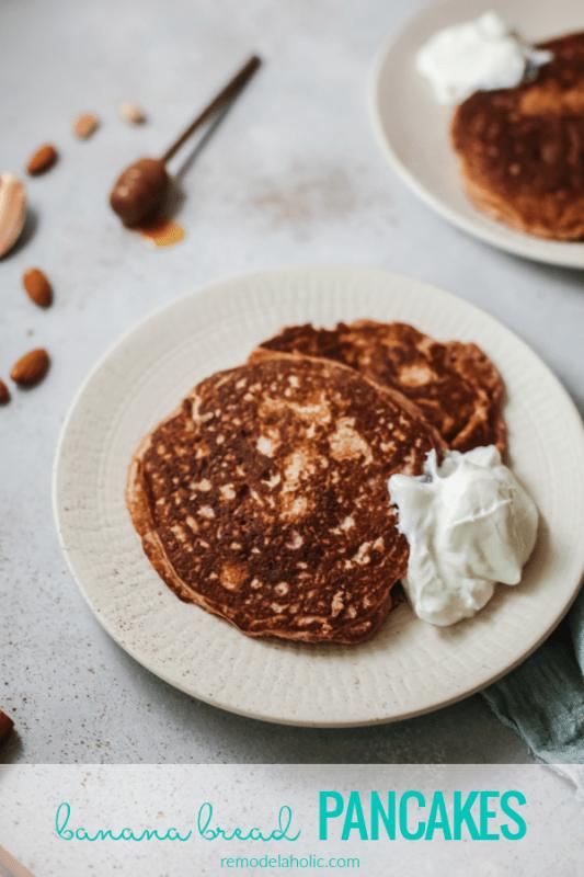 Banana Bread Pancakes Recipe, Remodelaholic