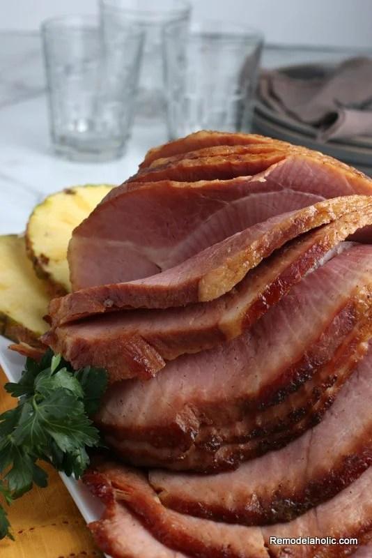 Easy Crockpot Ham Recipe, Pineapple Brown Sugar Glaze, Remodelaholic (3)