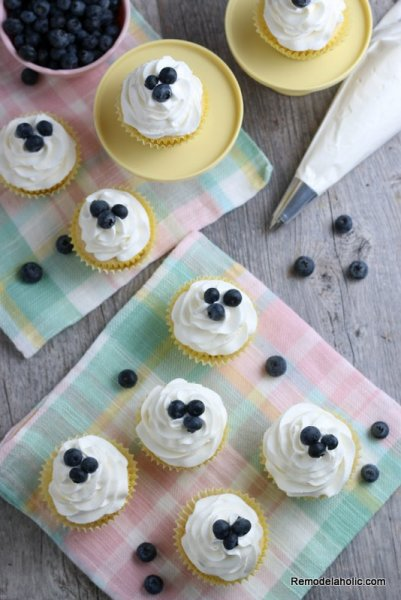 Easy Lemon Cupcake Recipe With Fresh Lemon Juice Remodelaholic (3)