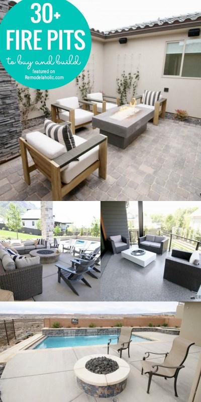 Trouvez le moyen idéal d'ajouter de l'ambiance à votre véranda ou votre patio avec l'un de ces 30+ foyers pour acheter et construire en vedette sur Remodelaholic.com