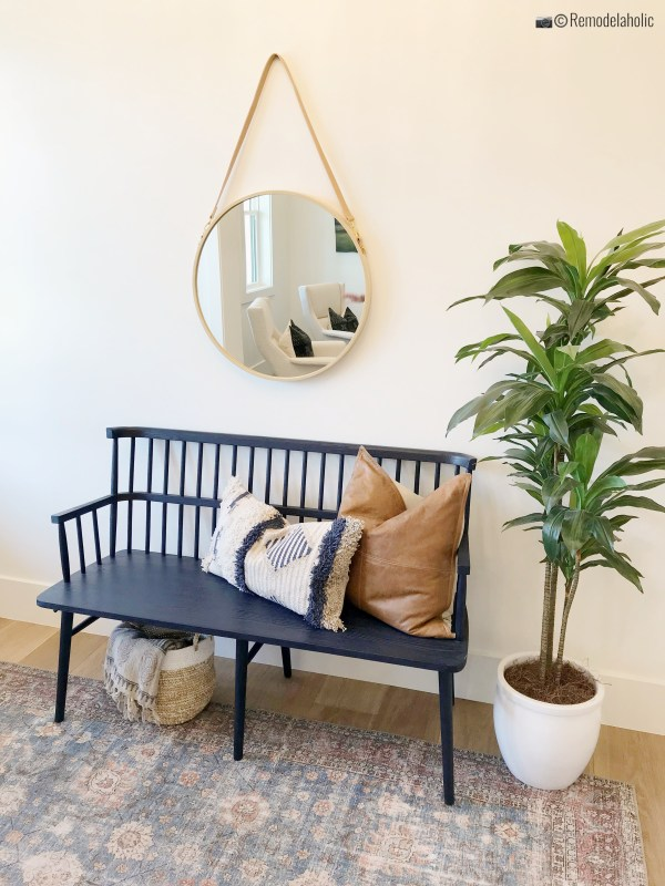Potted Plant in an inviting entryway, UVPH 2018 Home 17 Millhaven Homes, Four Chairs Furniture & Design, Photo by Remodelaholic