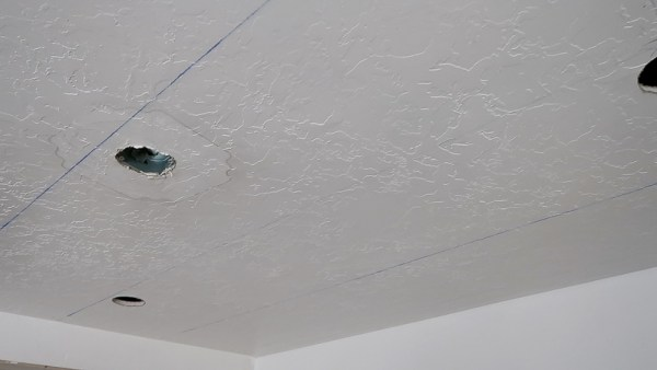 Mark Joists to Install Whitewashed Planks on Ceiling for Basement Ceiling Update