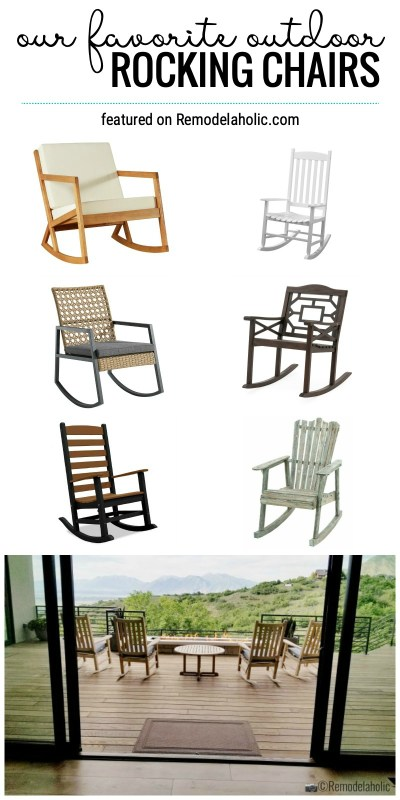 Check Out Our Favorite Outdoor Rocking Chairs For The Porch Or Patio Featured On Remodelaholic.com