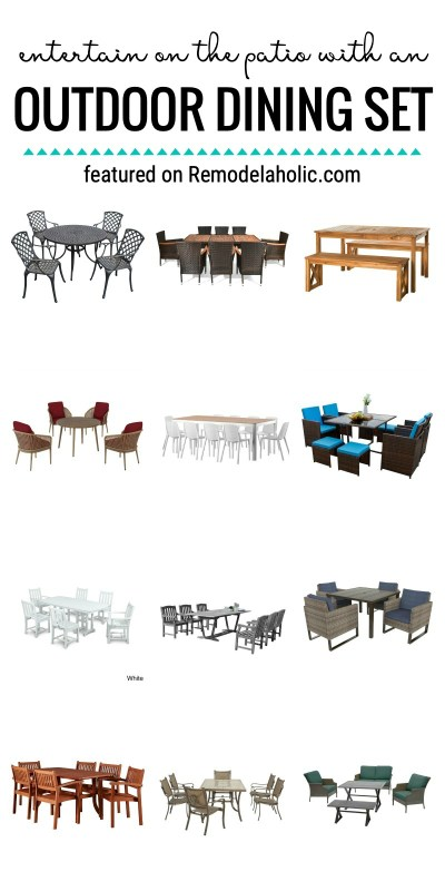 Host A Party! Entertain On The Patio With An Outdoor Dining Set Featured On Remodelaholic.com