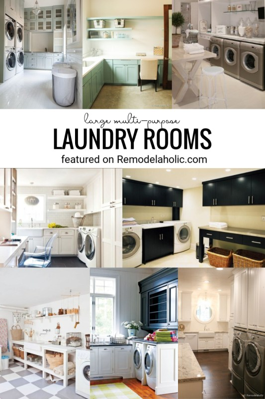 Large Multi Purpose Laundry Rooms. Ideas, Designs, And Inspiration Featured On Remodelaholic.com