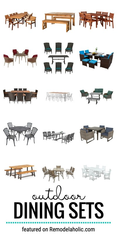 Spend Time Outdoors With An Outdoor Dining Set For Your Patio. Check Out These 45+ Gorgeous Outdoor Dining Sets Featured On Remodelaholic.com