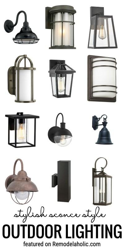 Ajoutez une bosse à votre attrait avec ces élégants éclairages extérieurs de style applique en vedette sur Remodelaholic.com #outdoorlighting #outdoorsconces