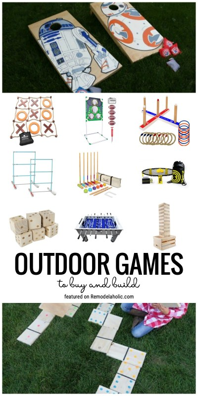 All The Fun Outdoor Games To Buy And Build And More Featured On Remodelaholic.com