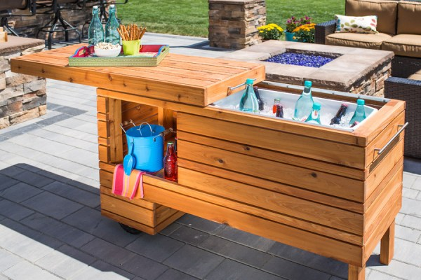 Brilliant DIY Cooler Tables For The Patio With Built In Coolers Sinks And Ice Boxes