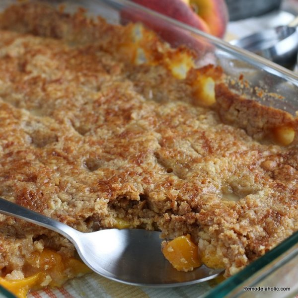 peach dump cake cobbler recipe using cake mix