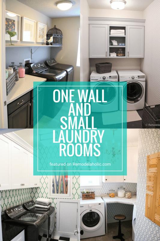 Une pièce et de petites salles de lavage pleines d'inspiration et d'idées de design en vedette sur Remodelaholic.com