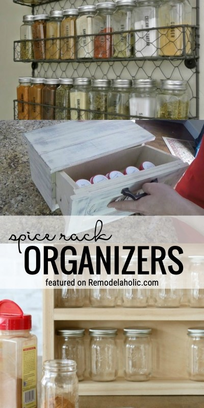 Spice Rack Organizers For Your Kitchen Or Pantry Featured On Remodelaholic.com
