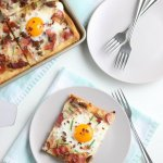 Fried Egg Breakfast Pizza With Bacon Recipe #remodelaholic