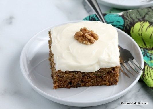 Easy Moist Zucchini Cake From Scratch, Remodelaholic