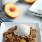 Summer Dessert, Fresh Peach Crisp Recipe, Remodelaholic