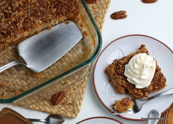 Easy Pumpkin Dump Cake, Pumpkin Spice Cake From A Cake Mix, Remodelaholic