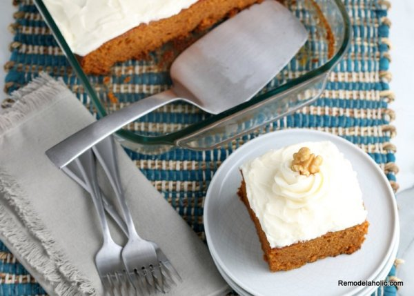 Homemade Pumpkin Cake Recipe From Scratch Remodelaholic