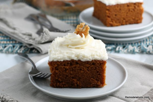 How To Make Easy Pumpkin Cake From Scratch Remodelaholic