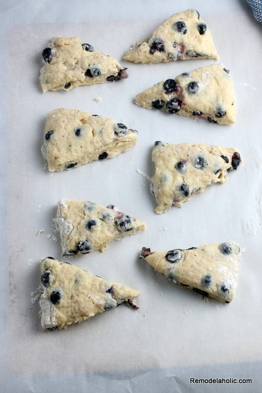 Blueberry Breakfast Scones, A Recipe From Remodelaholic