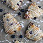 Recipe For Blueberry Scones With Fresh Or Frozen Blueberries From Remodelaholic