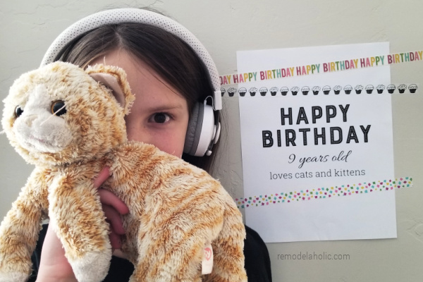 Custom Happy Birthday Printable Birthday Sign PDF For Photo Shoot Prop, Remodelaholic