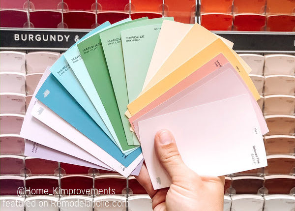 How To Paint A Rainbow Accent Wall With Shiplap Boards For A Kids Bedroom, Ombre Paint Colors, Home Kimprovements For Remodelaholic