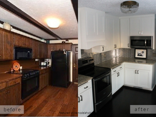 Before And After White Kitchen Remodel Ideas, Construction2style On Remodelaholic