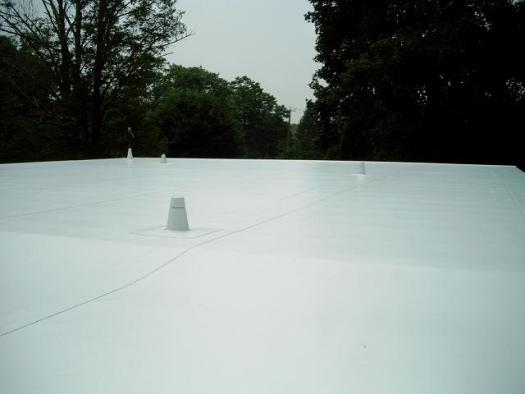 Energy Efficient PVC membrane on a flat roof