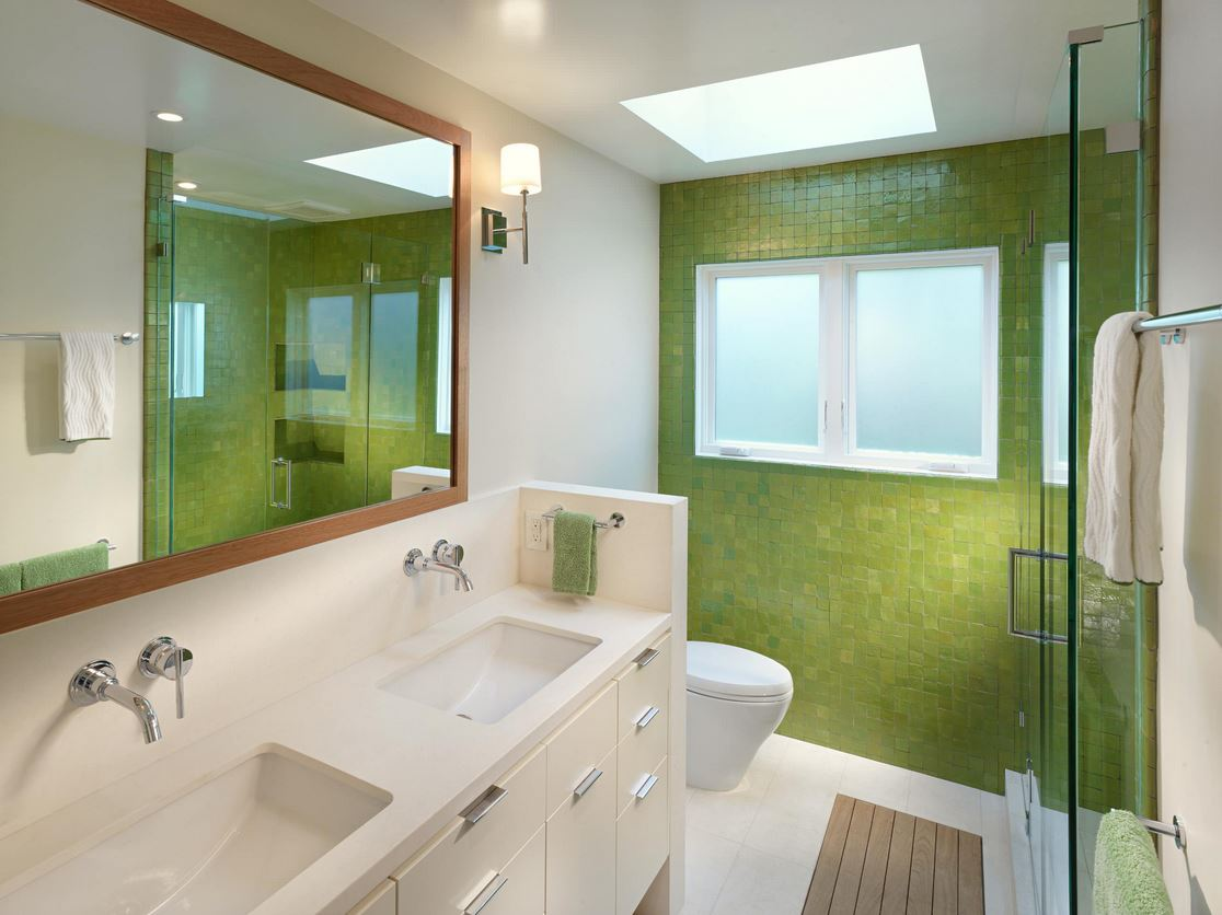 3d bathroom wall tiles - Green Bathroom Idea